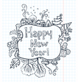 New Year doodle vector image