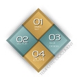 business four squares with text vector image vector image