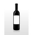 Bottle of wine blank vector image