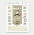 Calendar 2015 Fathers Day concept design vector image