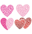 heart floral pattern vector image vector image