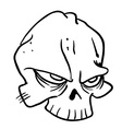 simple black and white skull 1 vector image vector image