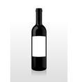 Bottle of wine blank vector image