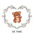 card with bear card with bear vector image