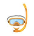 diver mask isolated on white vector image