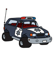 Funny big police car vector image