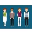 Girls and boys teenagers cartoons design vector image