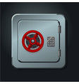 metal safe box with digital lock realictic vector image