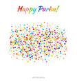 purim flyer carnival paper confetti background vector image