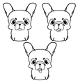 Set of french bulldog puppies Black and white vector image