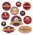 Set of vintage retro restaurant badges and labels vector image