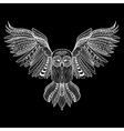Zentangle stylized Owl Hand Drawn isolated on vector image