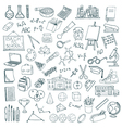 Hand drawn school icons set vector image vector image