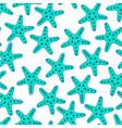 turquoise starfish seamless pattern vector image