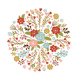 floral for a greeting card or other vector image vector image
