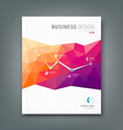 Magazine geometric shapes infographic vector image