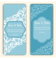 Wedding invitation cards template vector image