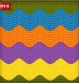 Wavy knitted seamless pattern background vector image vector image