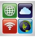 Wifi internet service vector image