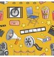 Doodle pattern cinema vector image