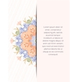 Flower decorative card vector image