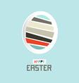 Easter Paper Cut Egg vector image