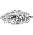 genius word cloud concept vector image
