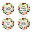 healthy food organic icon vector image