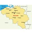 map - Kingdom of Belgium vector image