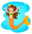 mermaid princess vector image