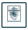 Fingerprint scan icon vector image