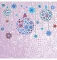 Stylized Christmas balls on elegant EPS 8 vector image vector image