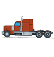 Big truck cartoon vector image