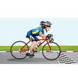 A bike racing vector image vector image