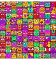 arge set of 100 different faces for design vector image