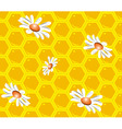 seamless background with honeycombs vector image vector image
