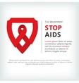 stop aids flat symbol icon vector image