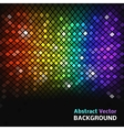Abstract mosaic rainbow glowing squares vector image