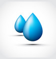 blue water droplets vector image