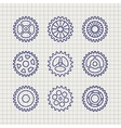Line gears icon set sketch vector image