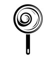 lollipop icon simple black style vector image