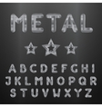 Metallic alphabet Set of stainless 3d letters vector image