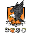 Sporty Eagle Mascot vector image