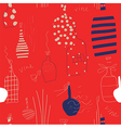 Wine bottles seamless grunge pattern vector image