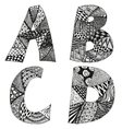 Vintage monograms collection with letters A B C vector image
