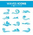 wave icons  ocean water design element vector image