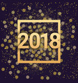 2018 new year sign golden glittering over night vector image