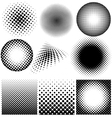 Halftone collection on white background vector image