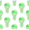 scoops of ice cream in a waffle cup vector image