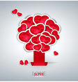 tree of hearts background vector image vector image